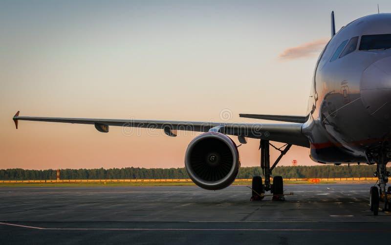 航空器的准备飞行的 免版税库存图片