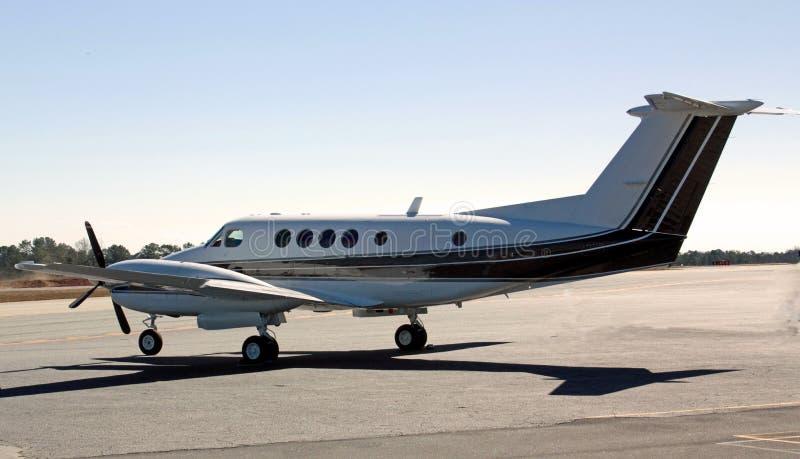 航空器装有引擎的涡轮螺旋桨发动机&# 免版税库存图片