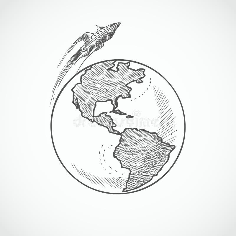 航空器象地球 皇族释放例证