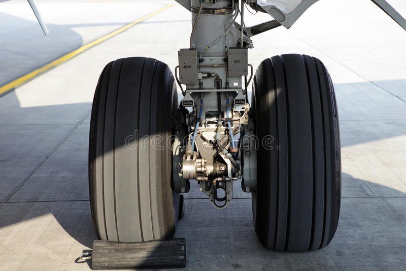 航空器轮子 免版税库存照片