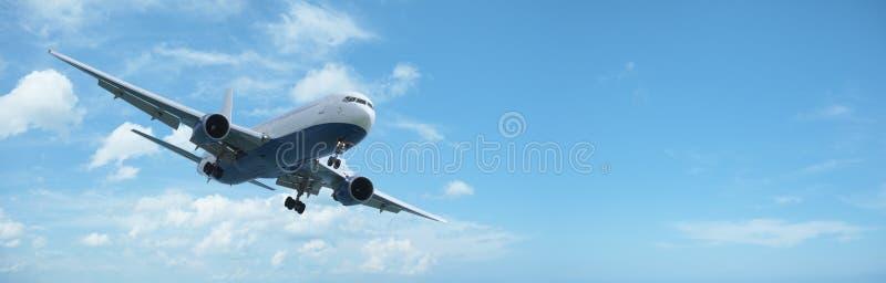 航空器飞行喷气机 免版税库存照片