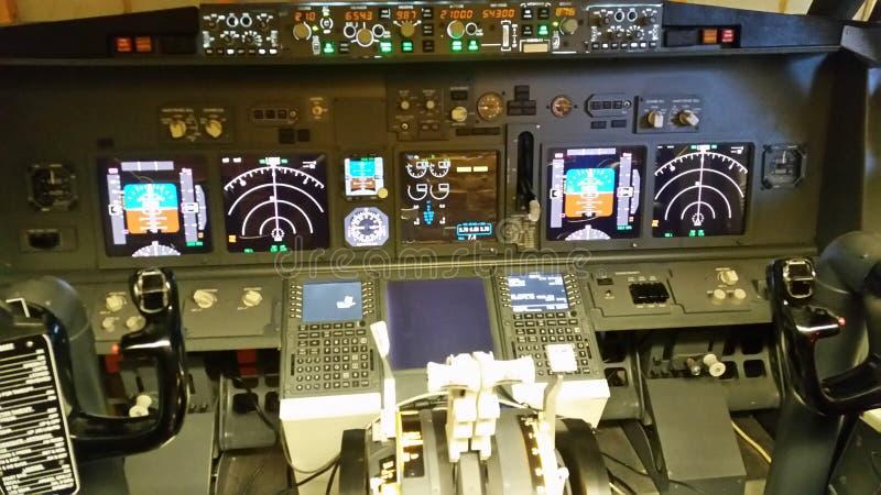 航空器驾驶舱 免版税库存照片