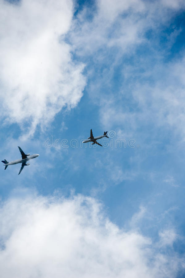 航空器collission -航空事故 免版税库存图片