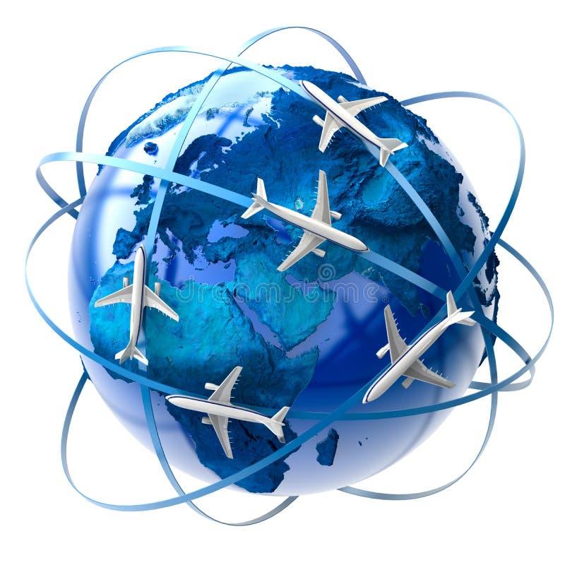 航空国际旅行 向量例证
