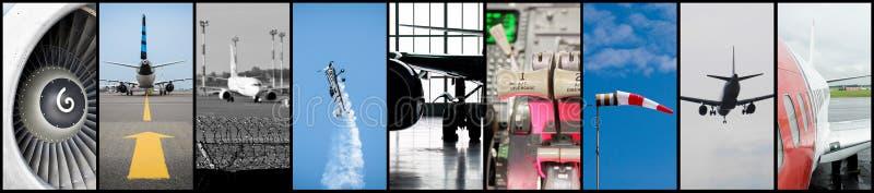 航空拼贴画 库存照片