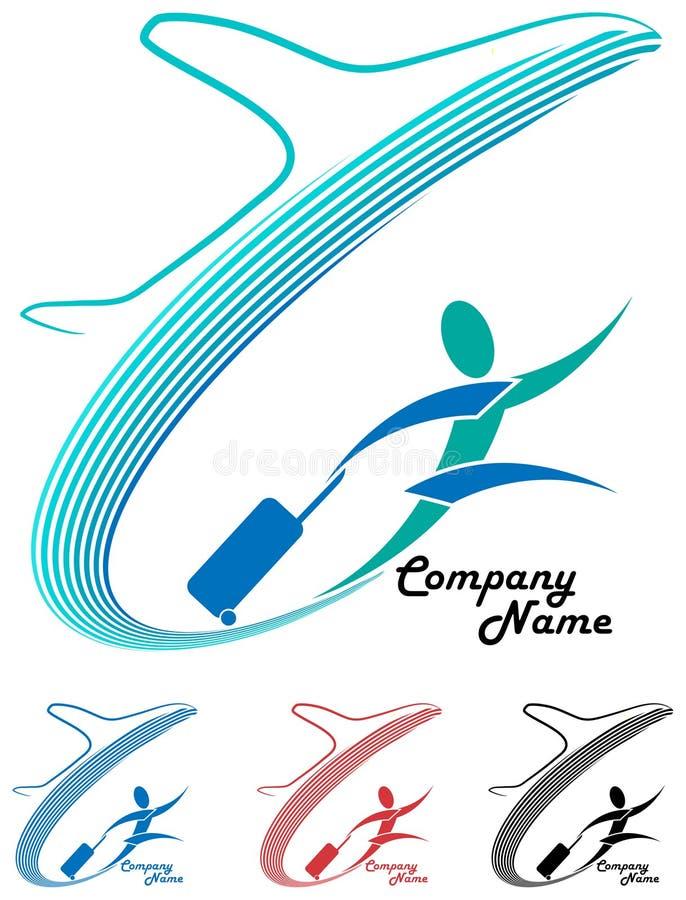 航空旅行商标 库存例证