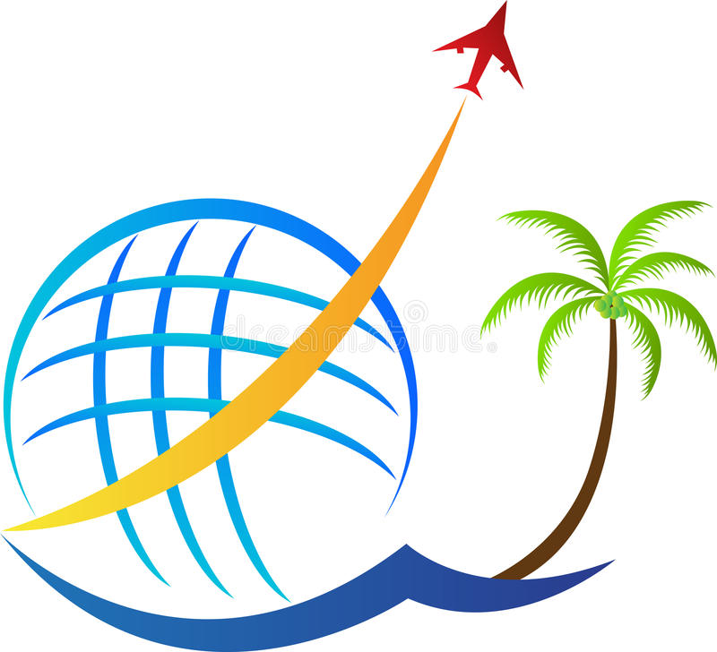 航空旅行商标 皇族释放例证