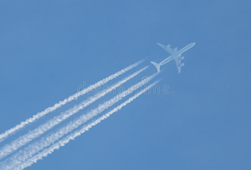 航空旅行转换轨迹 免版税图库摄影