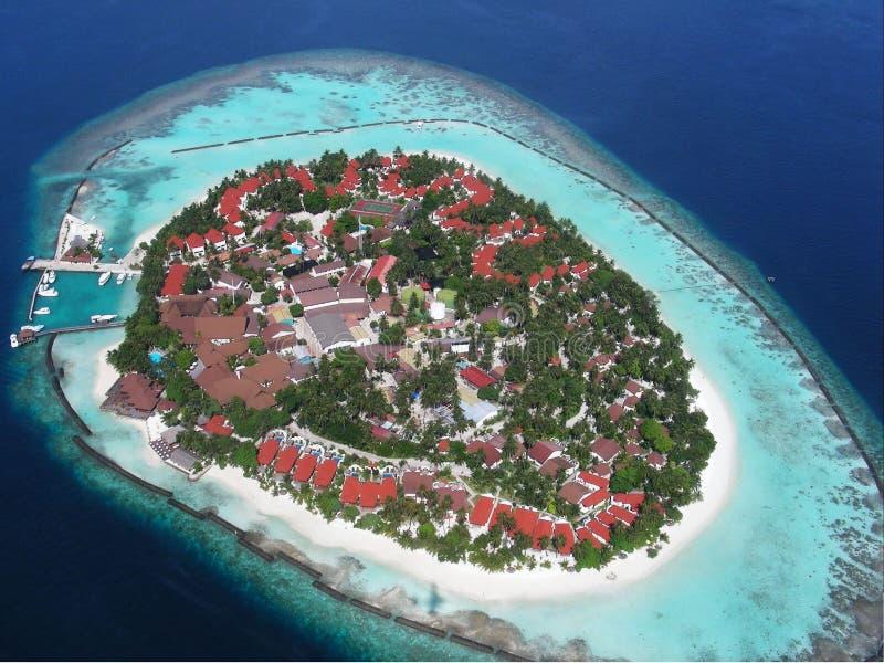 航空海岛马尔代夫 库存图片
