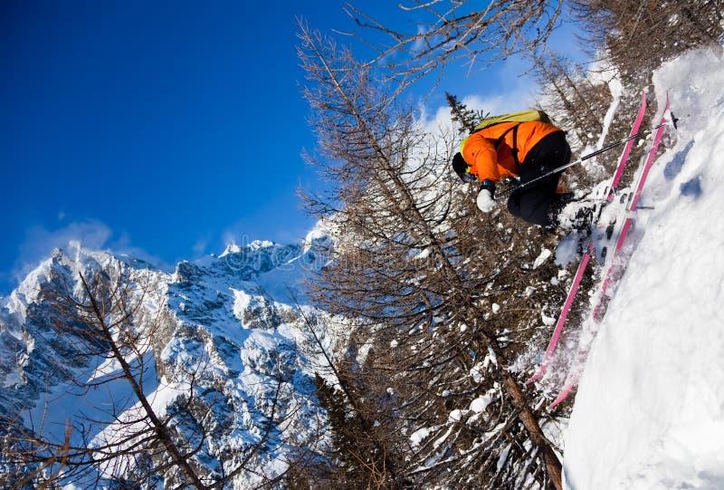 航空滑雪者 图库摄影