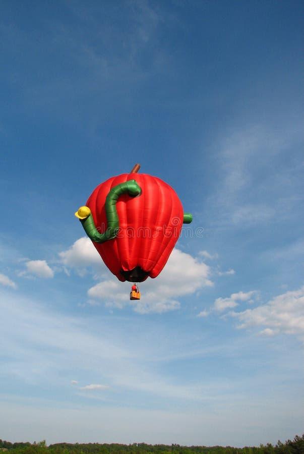 航空热苹果的气球 免版税图库摄影