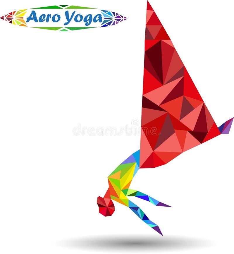 航空瑜伽 向量例证