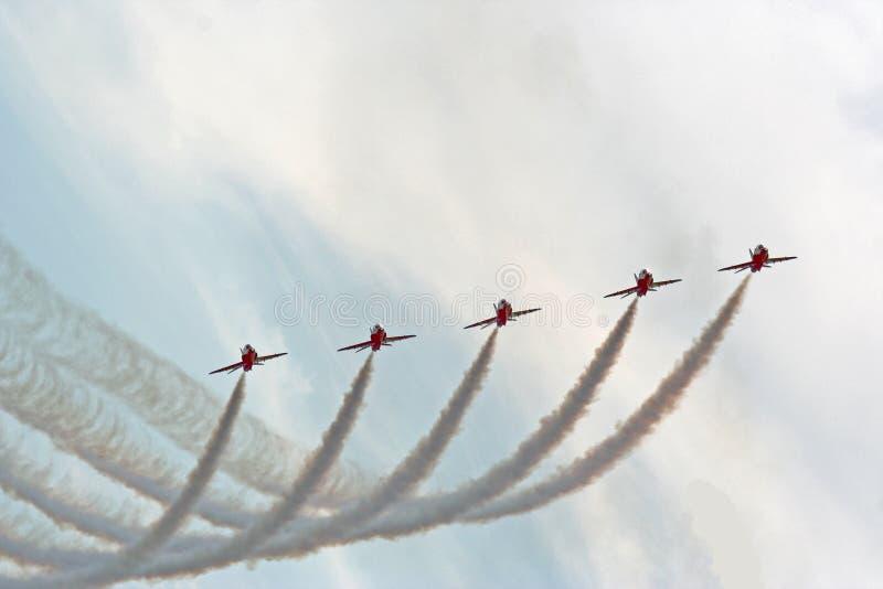 航空箭头红色显示 库存图片