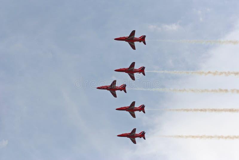 航空箭头红色显示 免版税库存照片