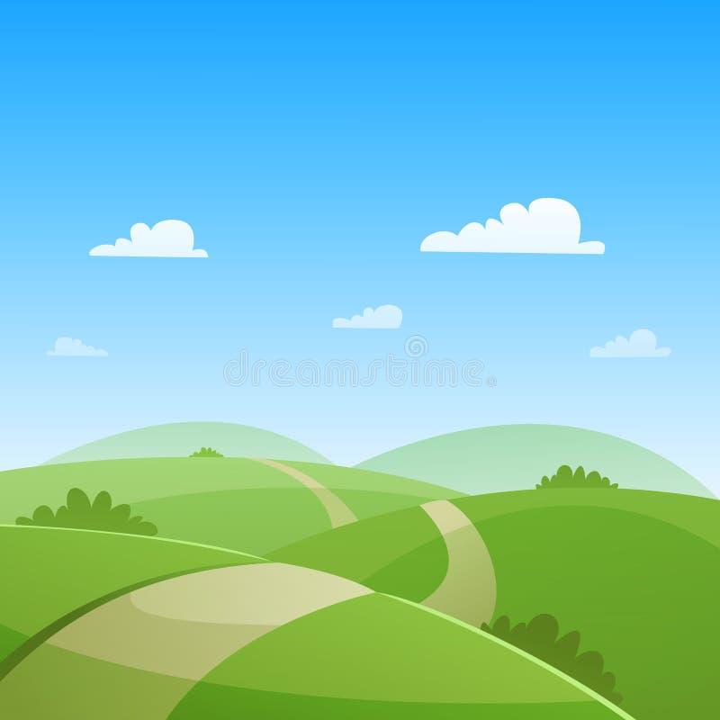 航空蓝色云彩国家(地区)开放全景路西西里岛天空 向量例证