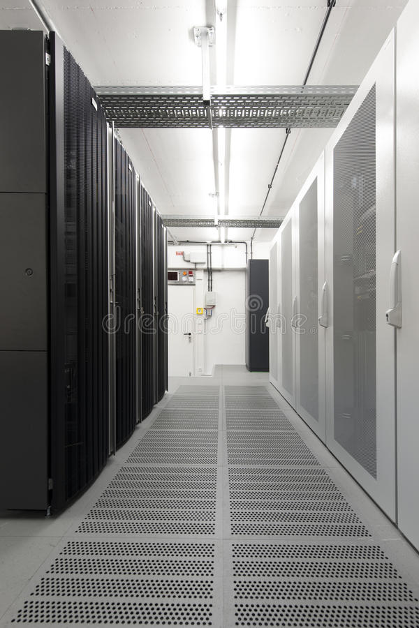 航空计算机适应了小空间的服务器 库存图片