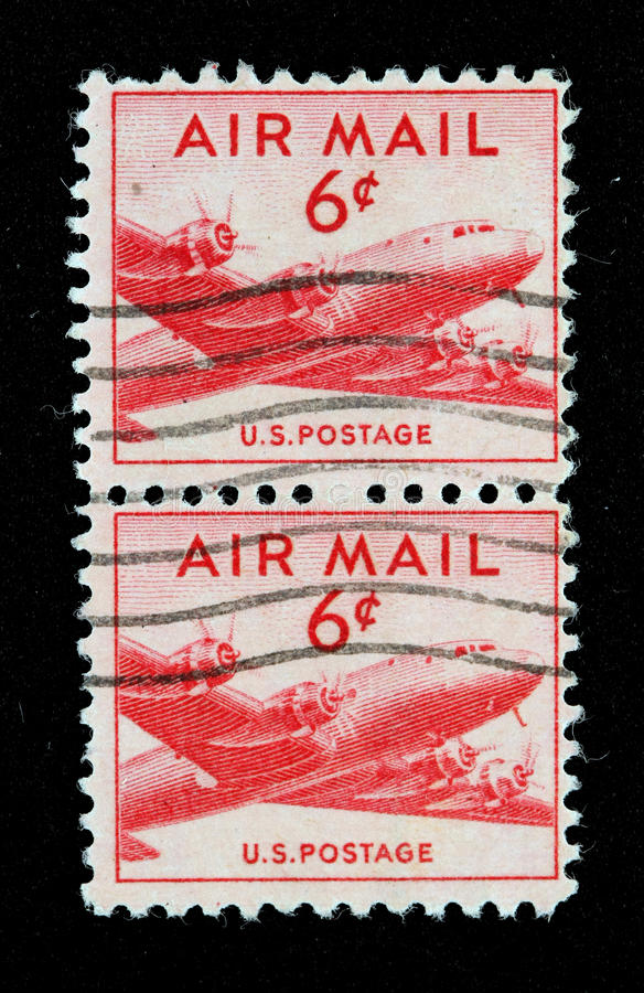 航空邮件标记我们 库存图片