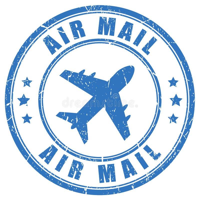 航空邮寄传染媒介邮票 库存例证