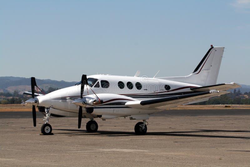 航空beechcraft e30国王孪生 免版税图库摄影
