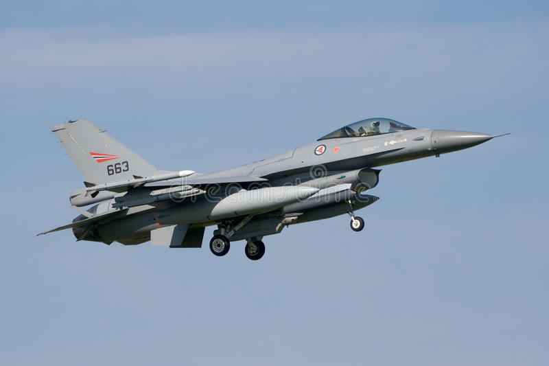 航空F-16强制jetfighter 库存图片
