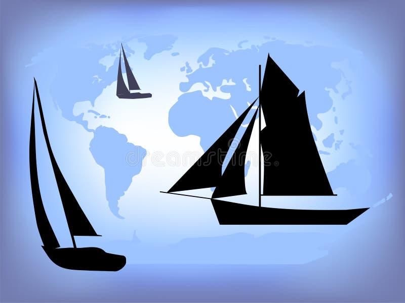 航行世界 库存例证