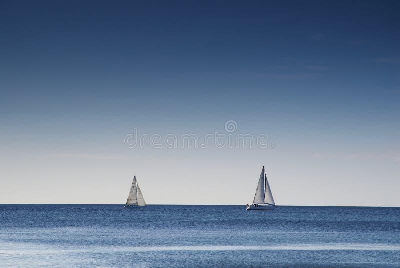 航行二的小船 库存图片