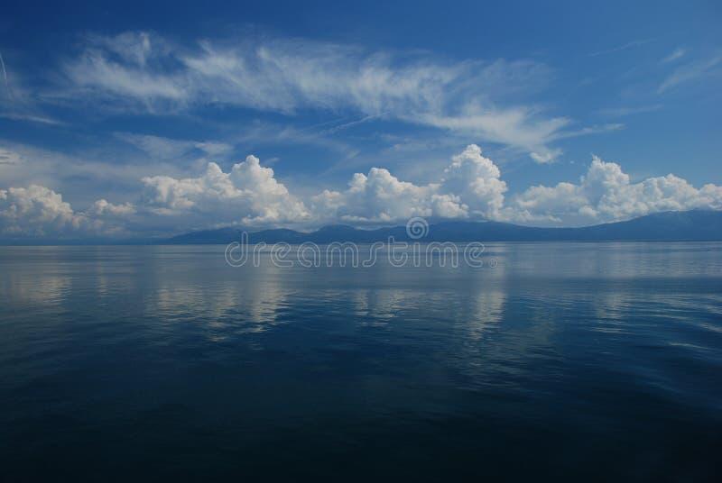 航行在亚得里亚海 库存照片
