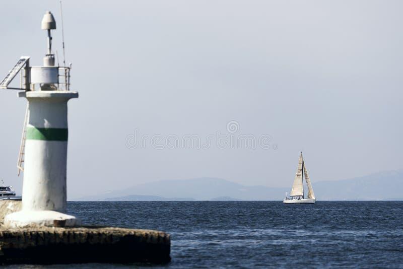 航行在爱琴海 库存照片