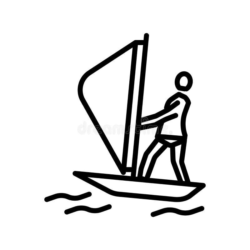 航行在白色背景、航行标志、线性标志和冲程设计元素隔绝的象传染媒介在概述样式 库存例证