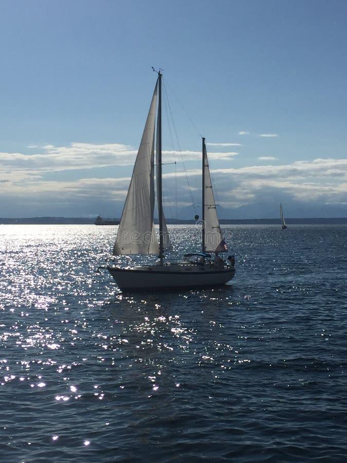航行在皮吉特湾 免版税库存照片