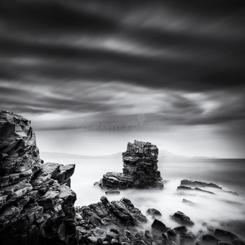 航行岩石在Nopigia,克利特 库存照片