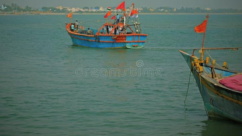 航行渔场的 库存照片
