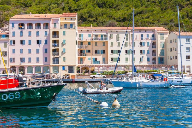 航行游艇, Bonifacio的乐趣 免版税库存图片