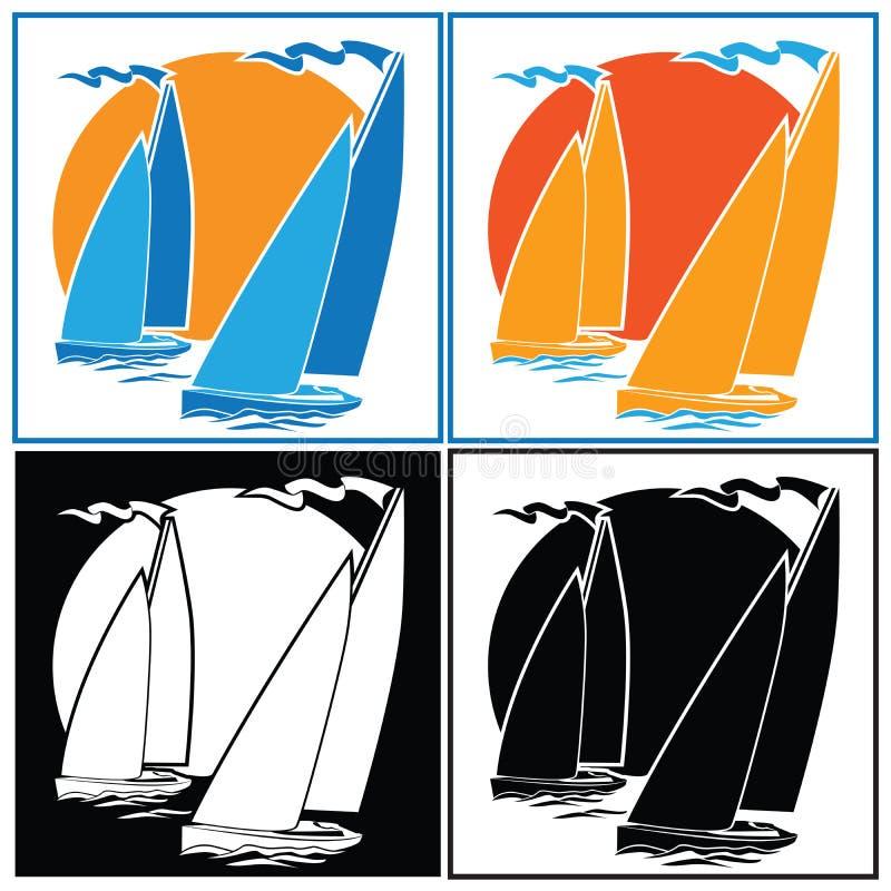 航行集合 向量例证