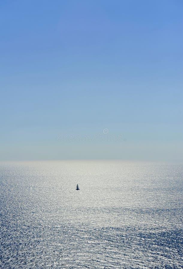 航行风yatch 免版税库存照片