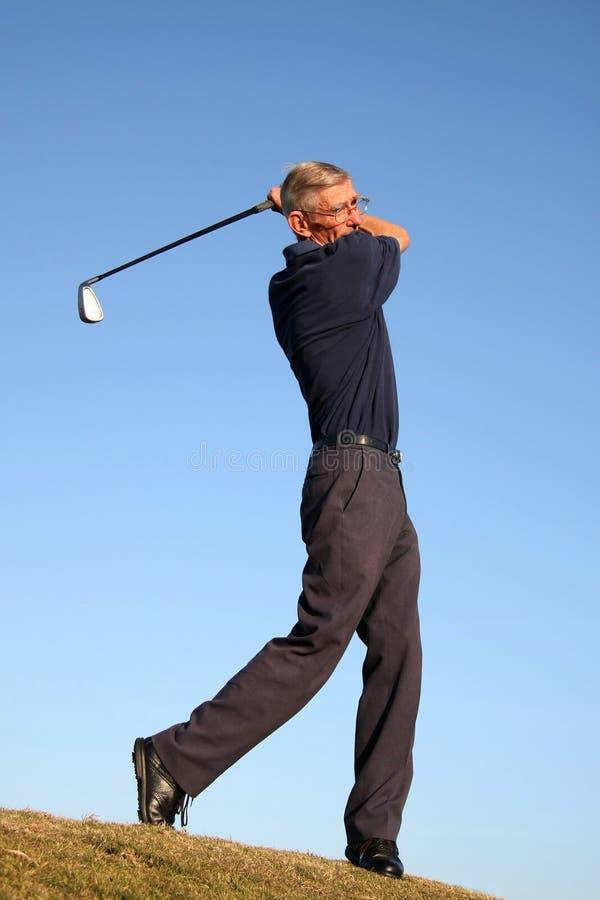 航路高尔夫球冲程 免版税库存照片