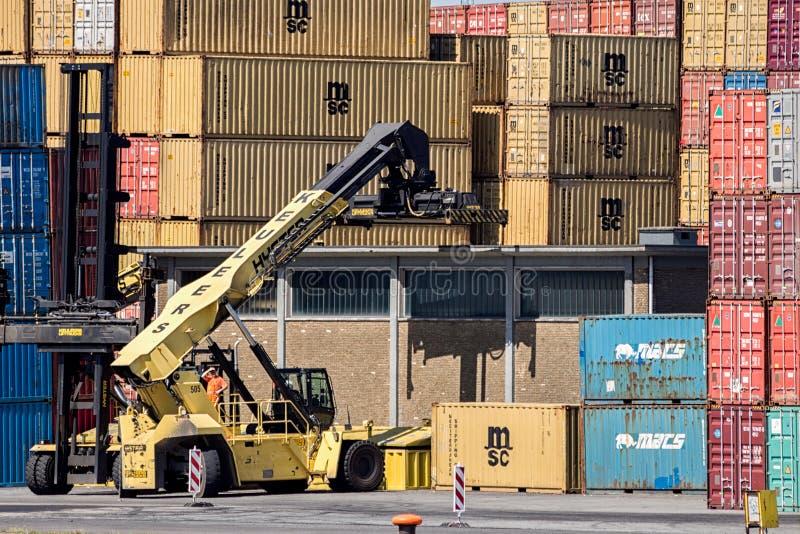 航运港容器经理 库存图片