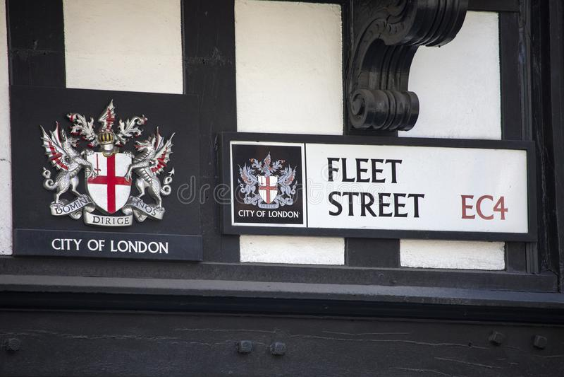 舰队街在伦敦 免版税库存图片
