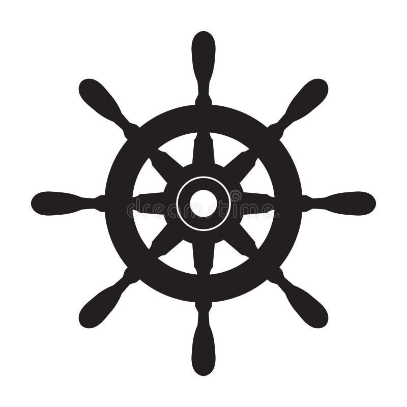 舵传染媒介商标象船锚船舶海小船海海洋例证 皇族释放例证