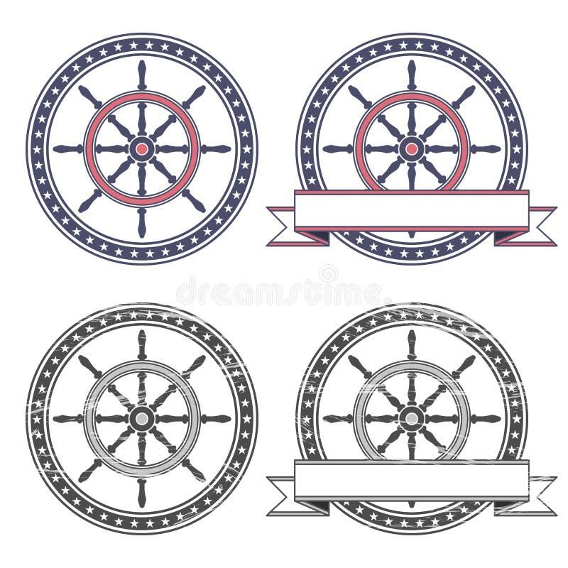 舵的标志 向量例证