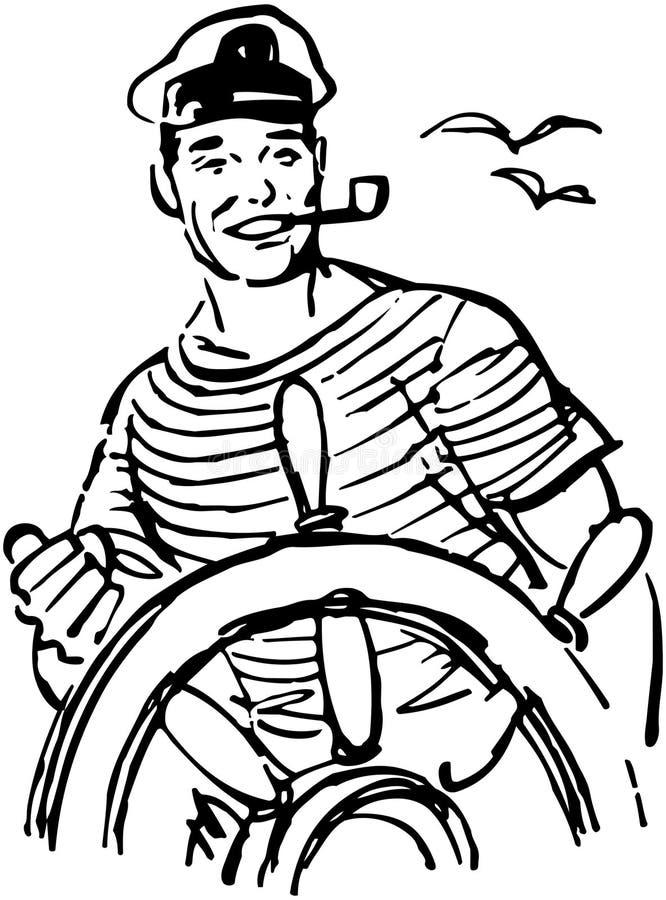 舵的水手 库存例证