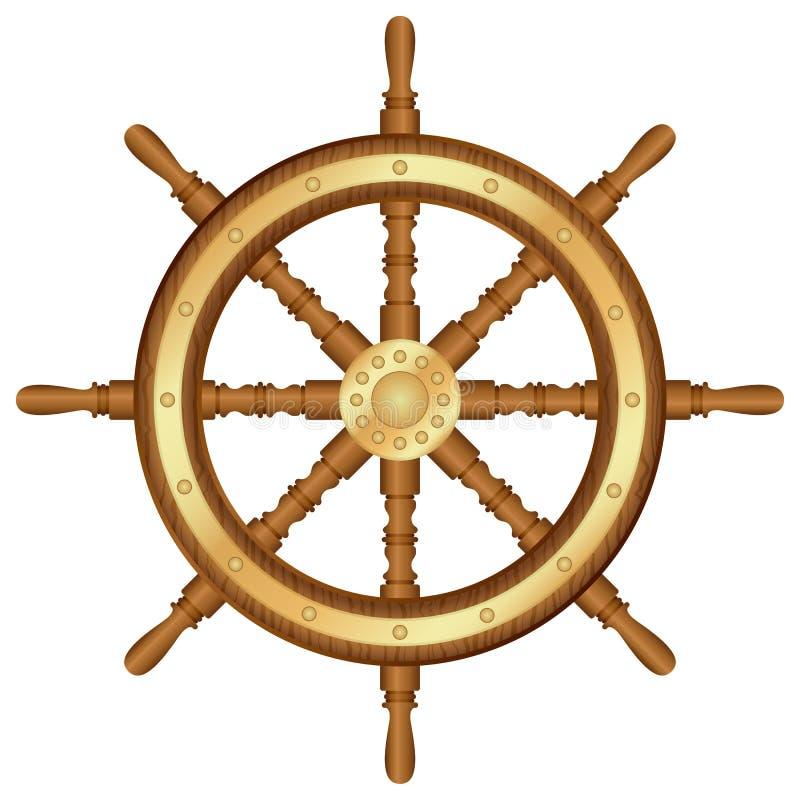 舵轮子 向量例证