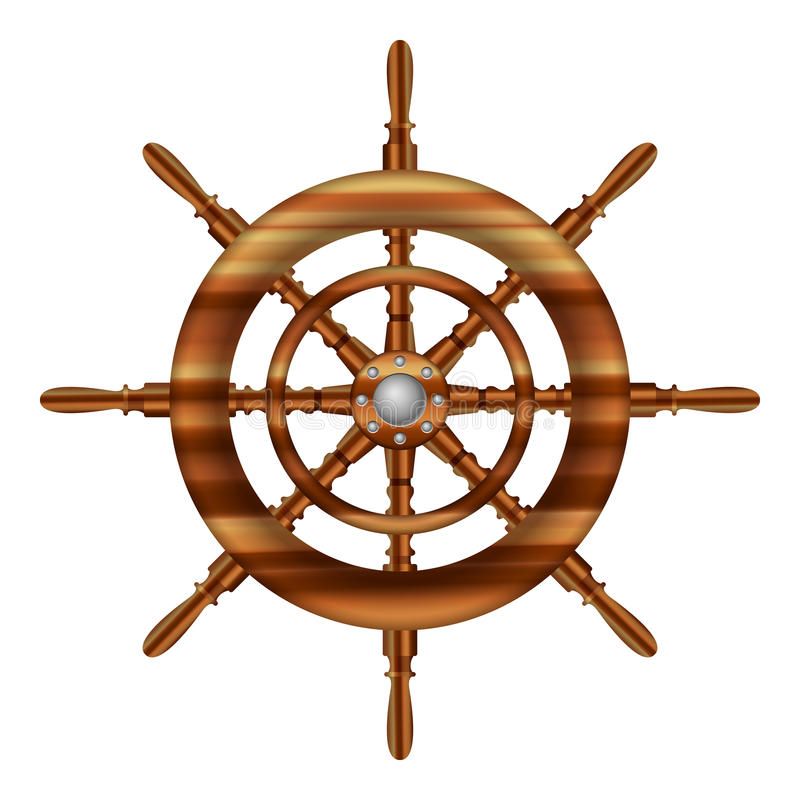 舵轮子 皇族释放例证