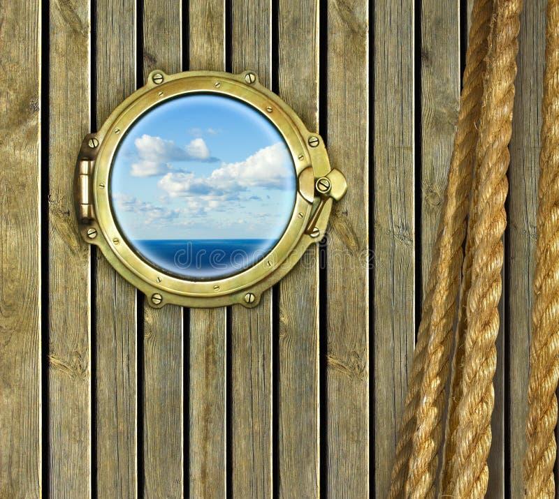 舷窗船 库存图片