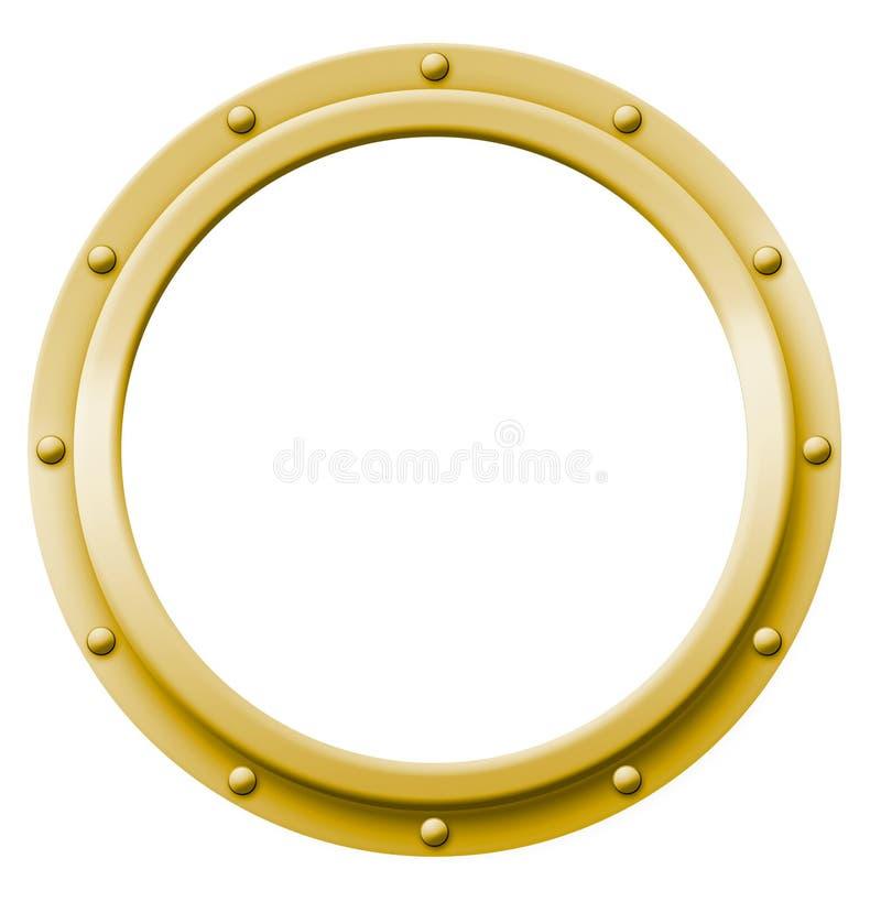 舷窗黄铜 向量例证