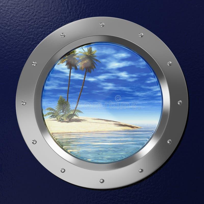 舷窗 向量例证