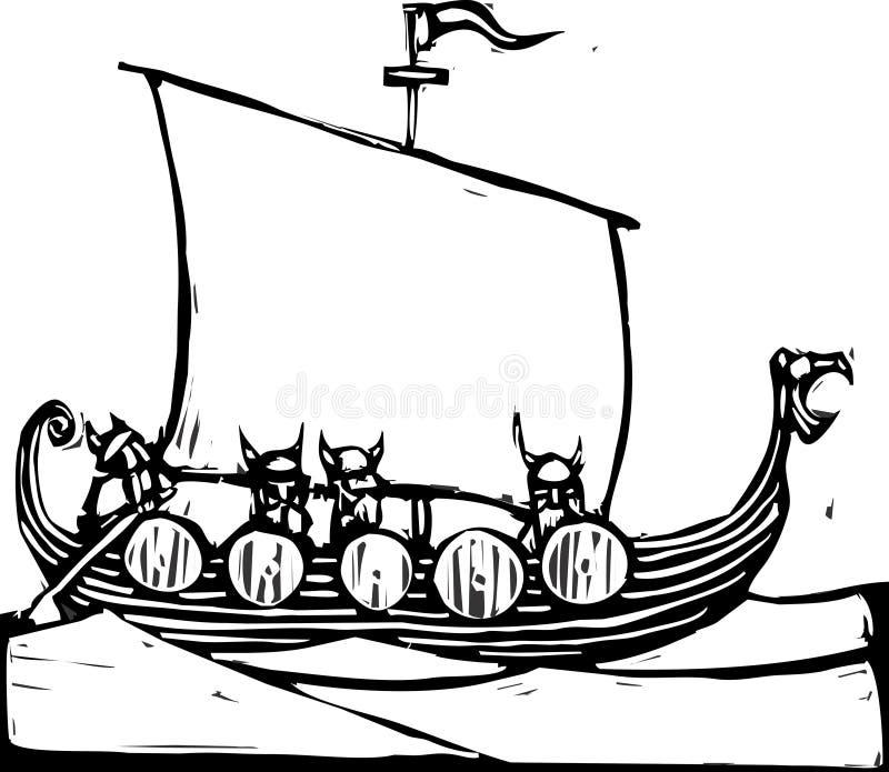 船北欧海盗 皇族释放例证