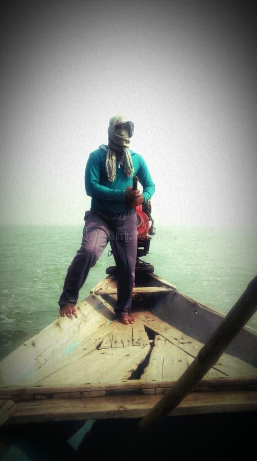 船员吉尔卡湖在奥里萨邦 免版税库存图片
