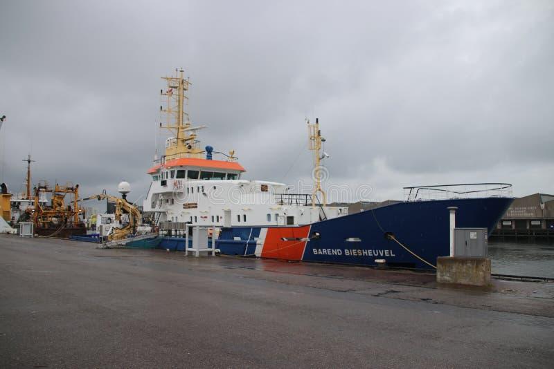 船命名了`在执行船的巴伦德Biesheuvel ` 免版税库存照片