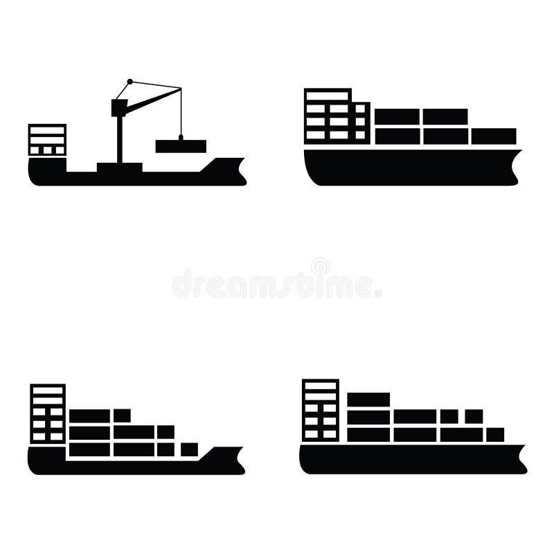 船和小船象集合 库存例证